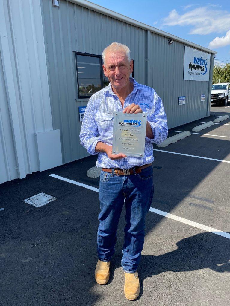 Jeremy Cox Service award