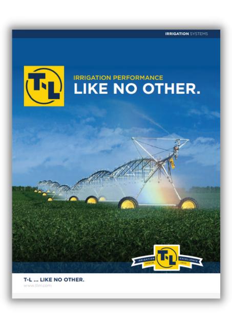 t-l pivot irrigator product catalogue